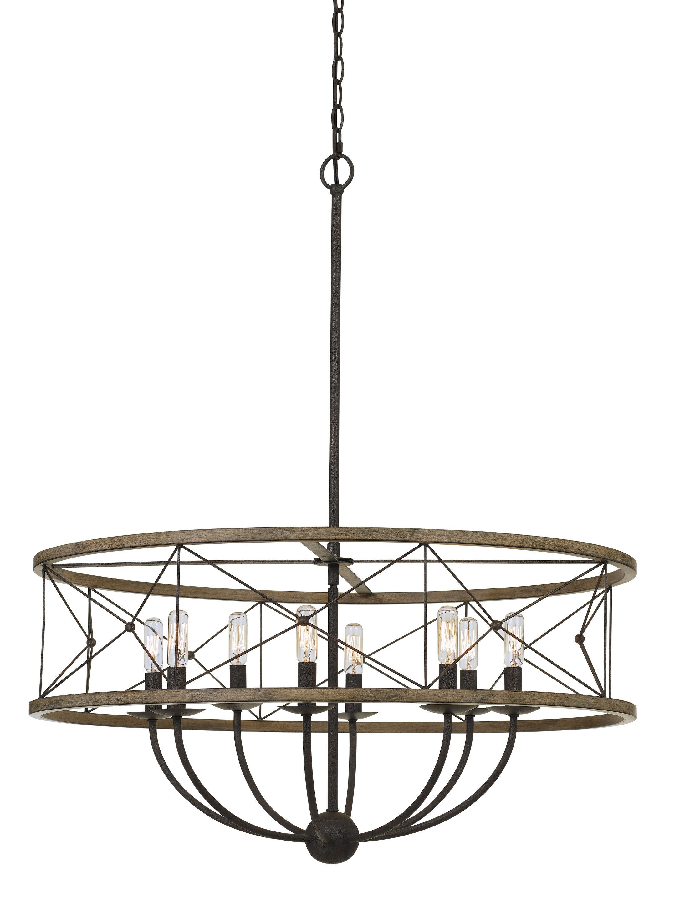 Edmonds Metal 8-Light Drum Chandelier