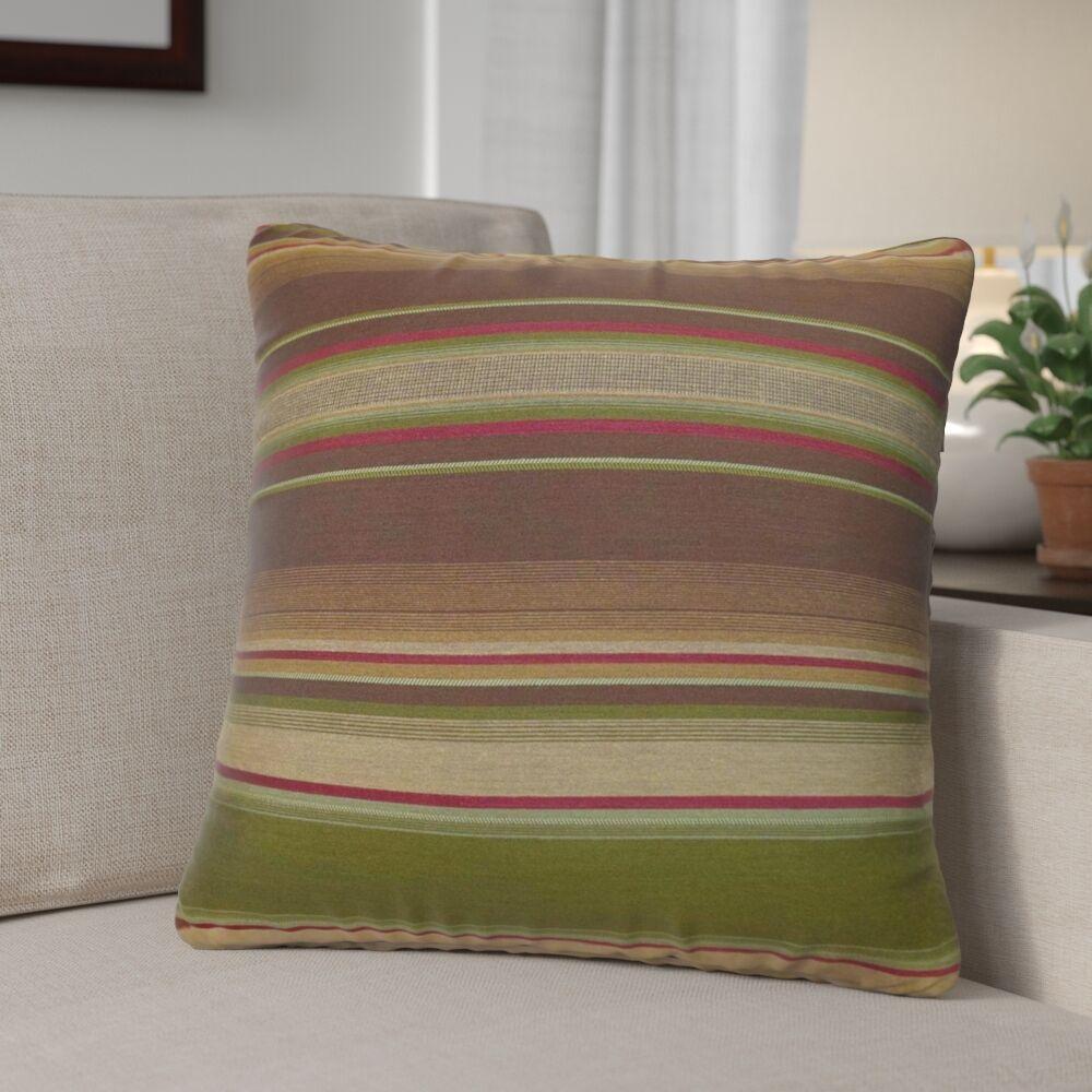 Dickens Stripes Silk Throw Pillow