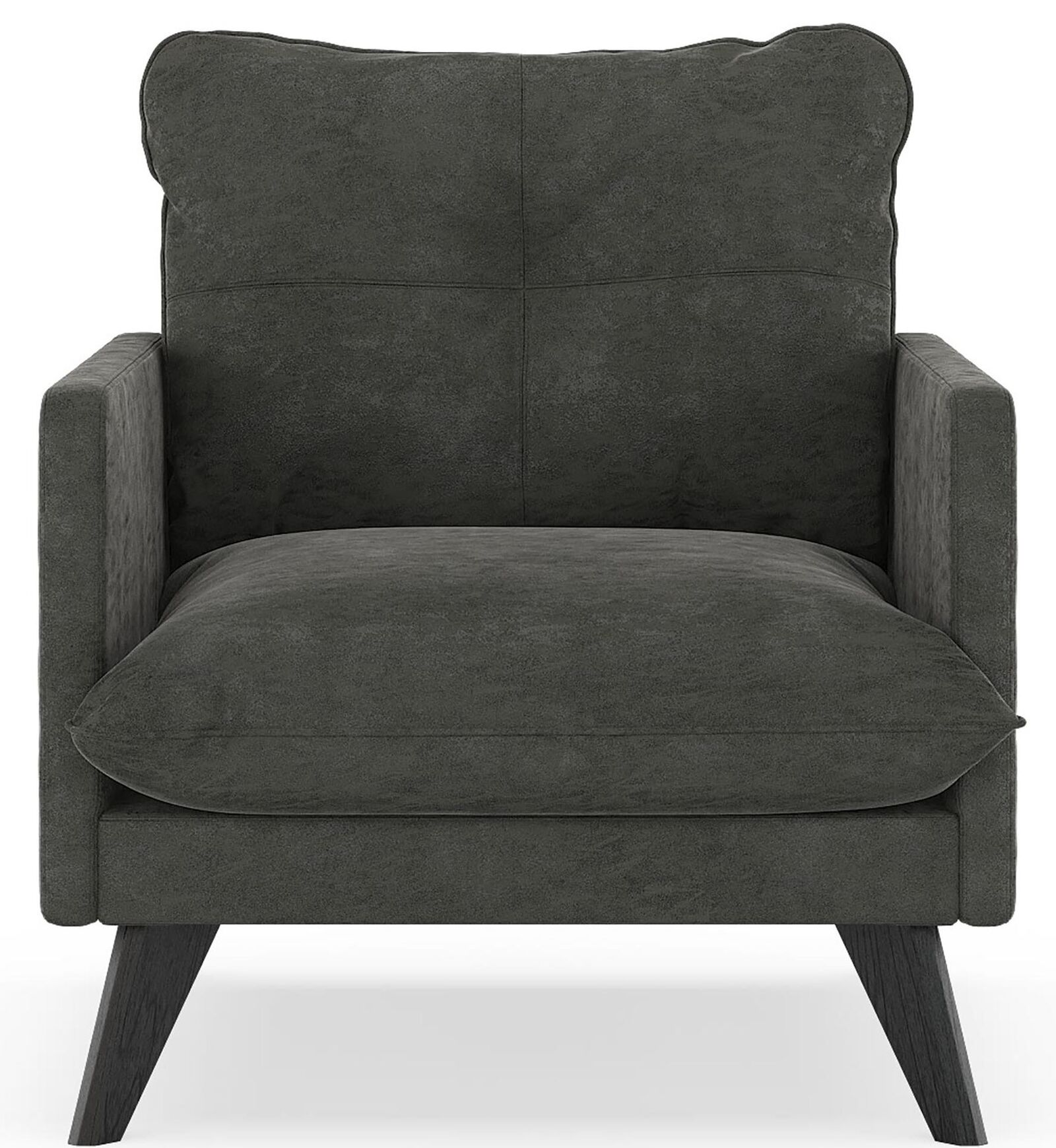 Covedale Micro Suede Armchair Finish: Black, Upholstery: Mocha