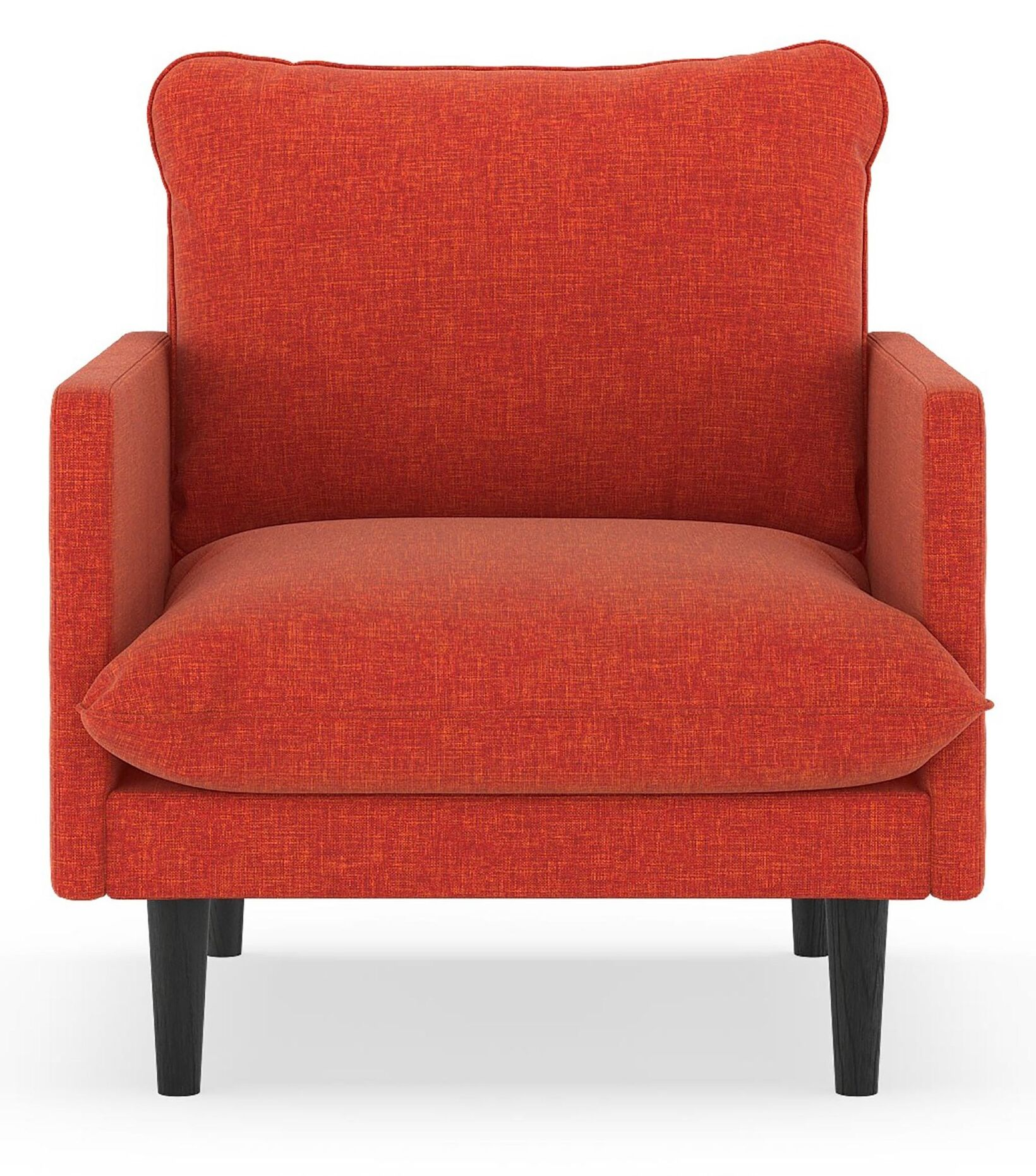 Rockefeller Cross Weave Armchair Upholstery: Cayenne, Finish: Natural