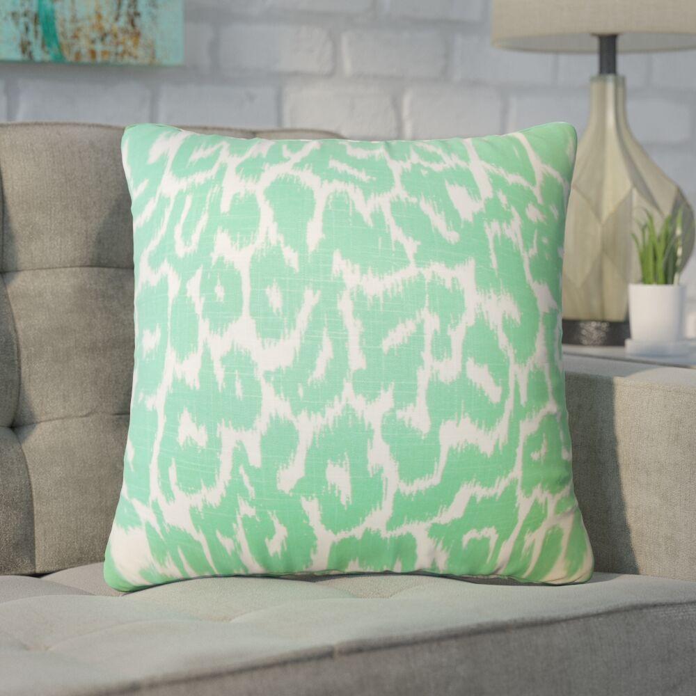Wetzler Ikat Down Filled Linen Throw Pillow Size: 22