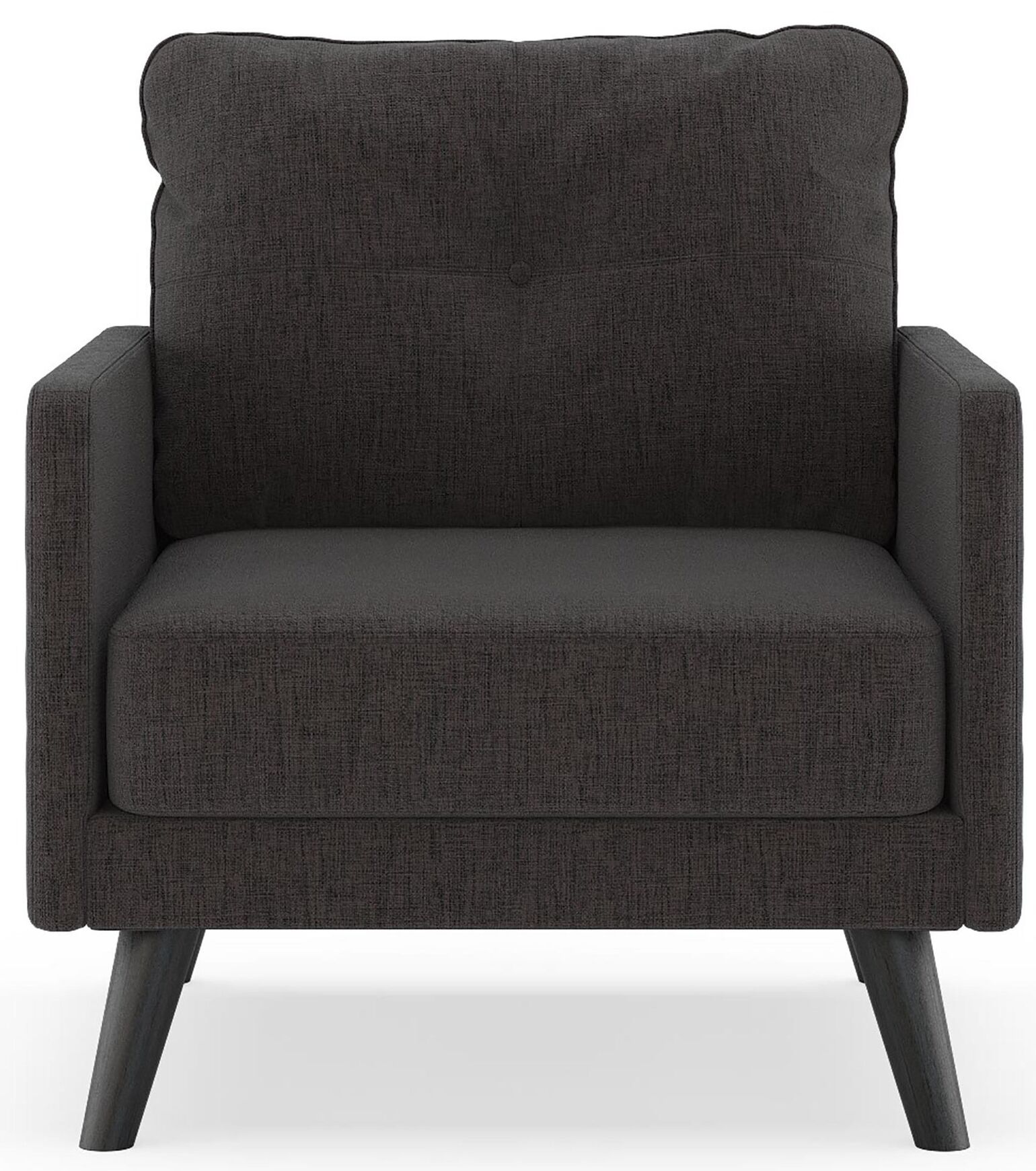 Cowart Pebble Weave Armchair Finish: Black, Upholstery: Heathered Slate