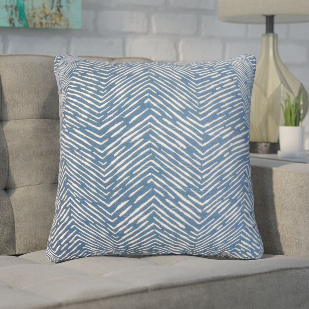 Withrow Zigzag Cotton Throw Pillow