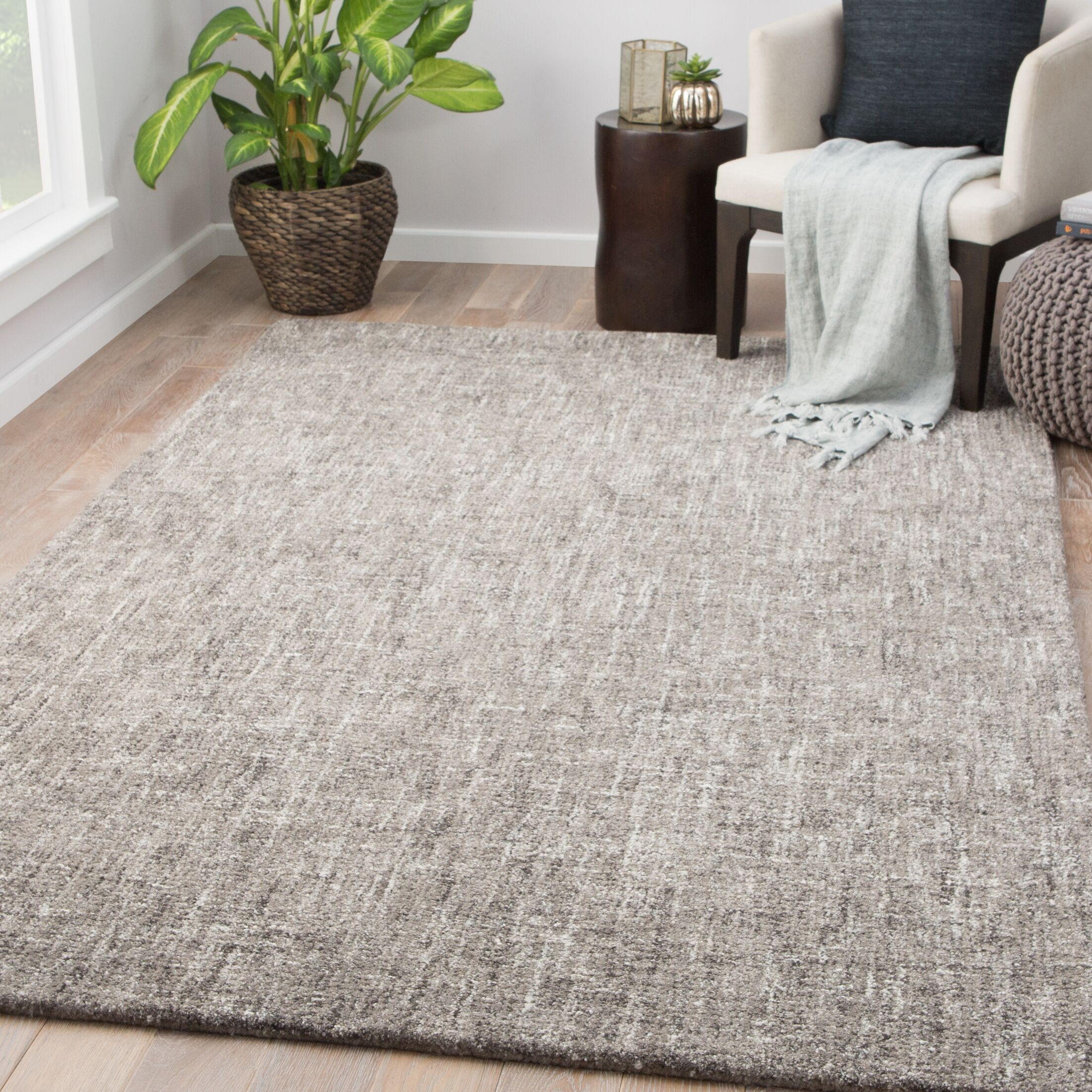 Widger Hand-Tufted Fallen Rock/Pumice Stone Area Rug Rug Size: Rectangle 2' x 3'