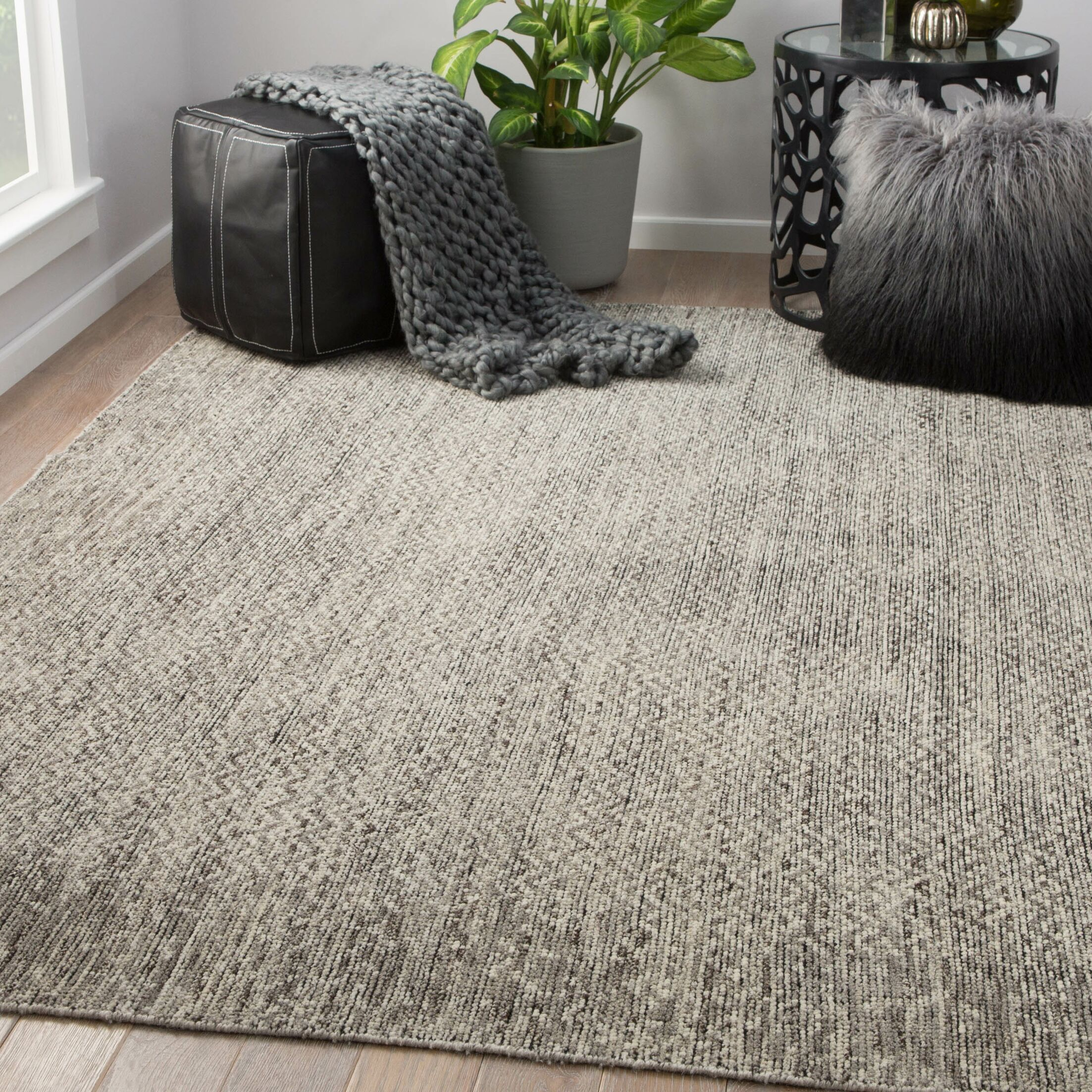 Magnuson Hand-Knotted Wool Fallen Rock/Oatmeal Area Rug Rug Size: Rectangle 9' x 12'