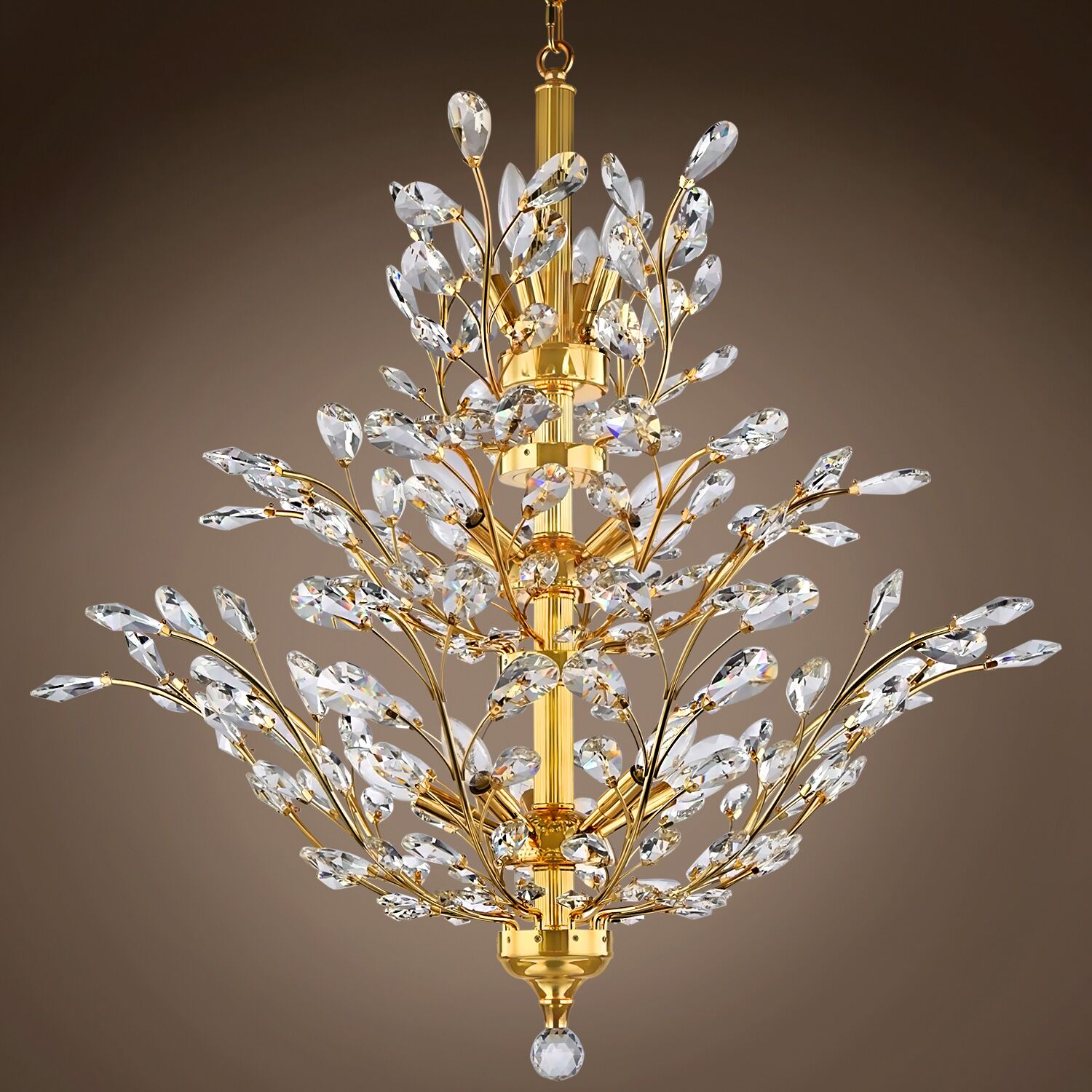Mendez 10-Light Candle Style Chandelier Crystal Grade: European, Bulb Type: Incandescent, Crystal Color: Smoke