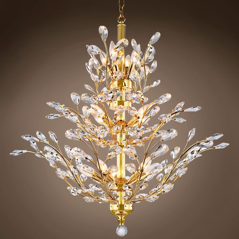 Mendieta 13-Light Chandelier Crystal Color: Clear, Bulb Type: Incandescent, Crystal Grade: Swarovski