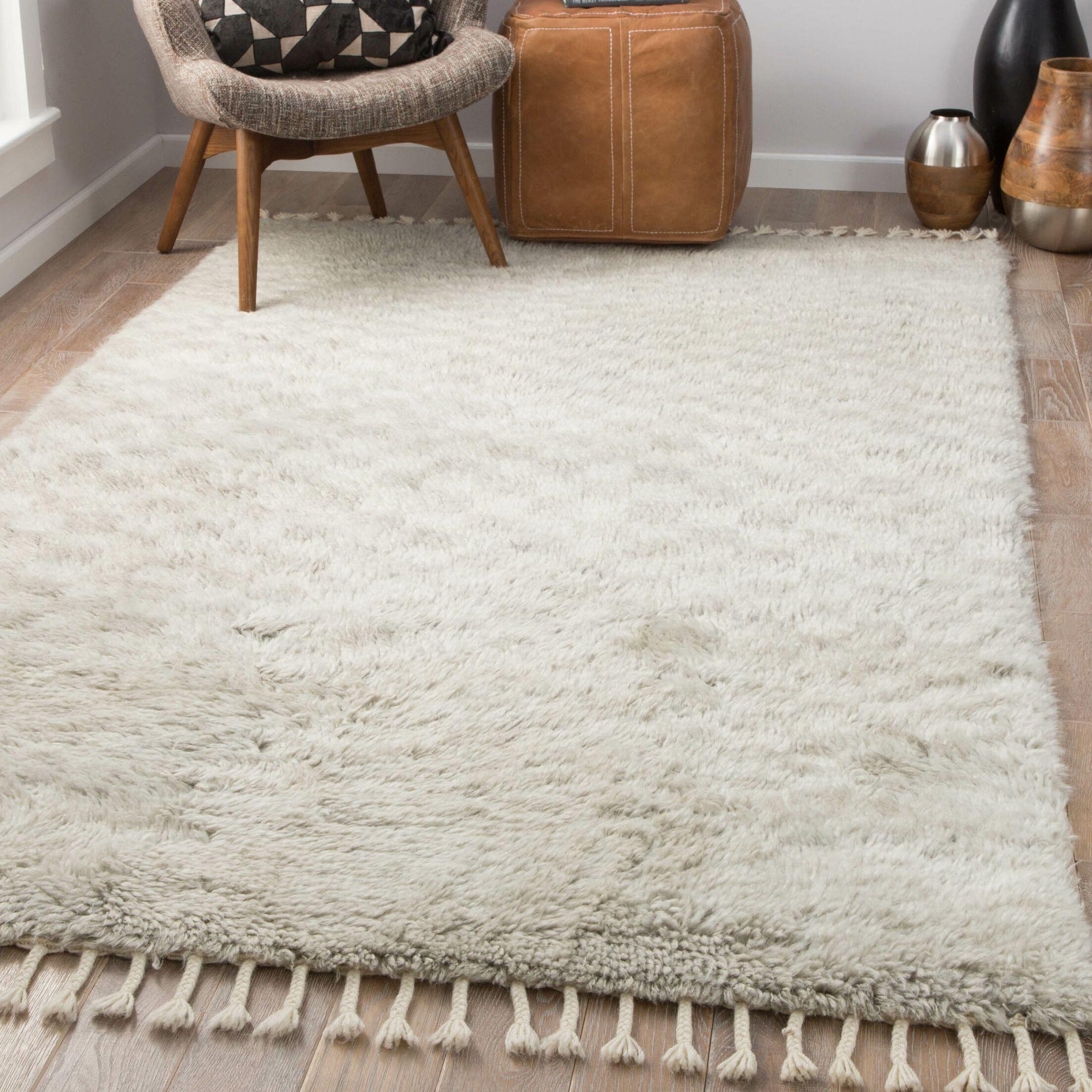 Majewski Hand-Knotted Wool Dawn Blue/London Fog Area Rug Rug Size: Rectangle 8' x 11'