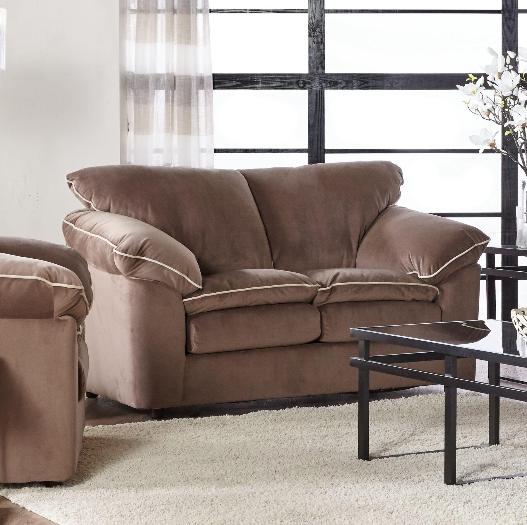 LeBretton Loveseat Upholstery: Light Brown