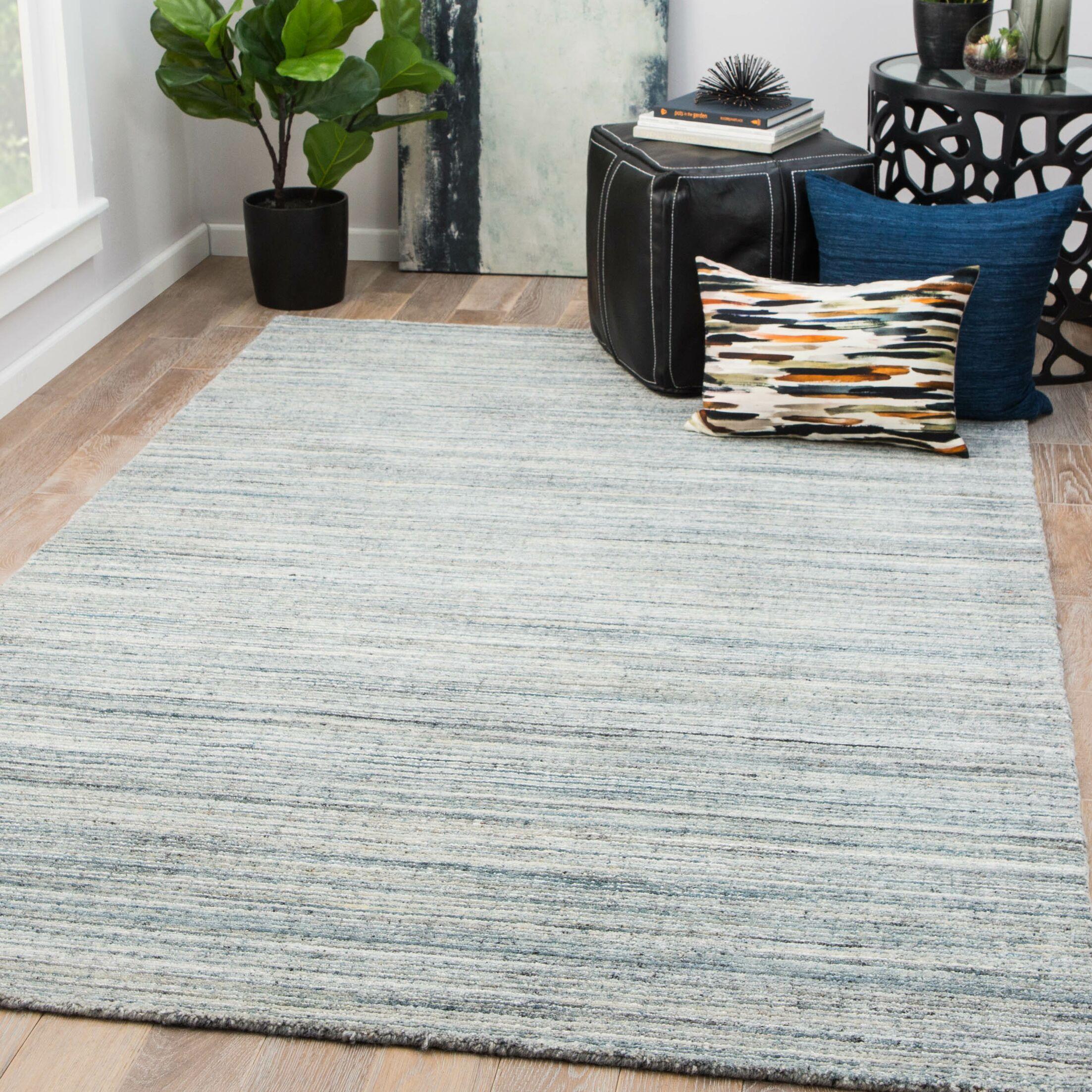Schmit Hand-Woven Wool Citadel/Blue Mirage Area Rug Rug Size: Rectangle 9' x 13'