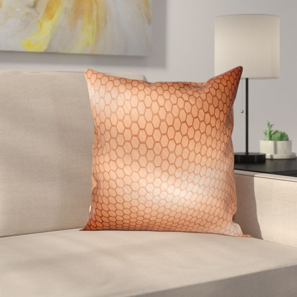 Comb Motion Mesh Square Pillow Cover Size: 24