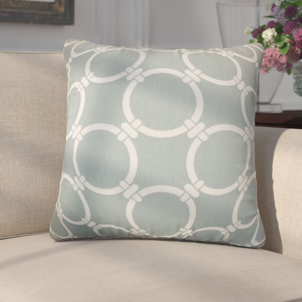 Donatella Geometric Cotton Throw Pillow Color: Gray