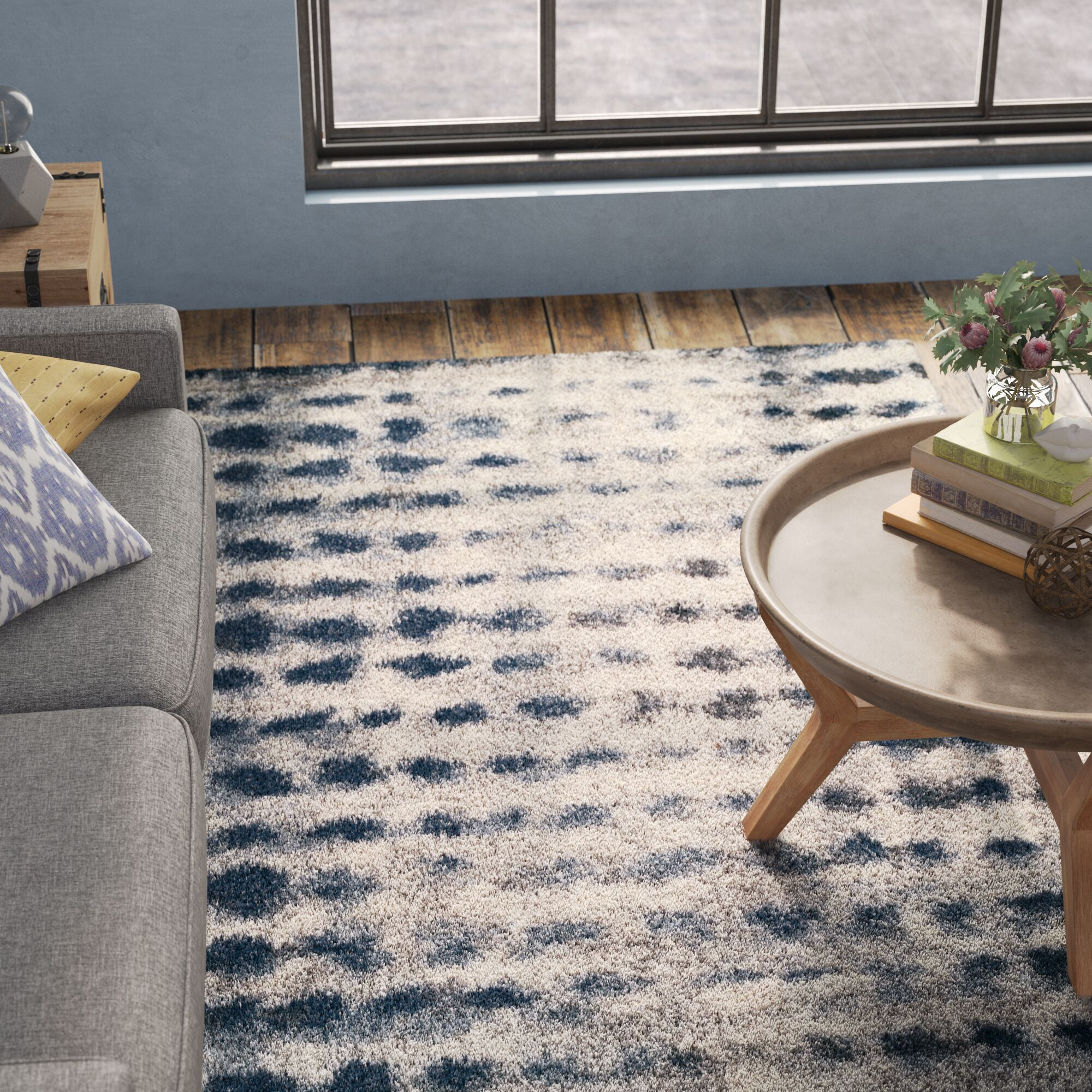 Zhora Shag Denim Area Rug Rug Size: Rectangle 3'3