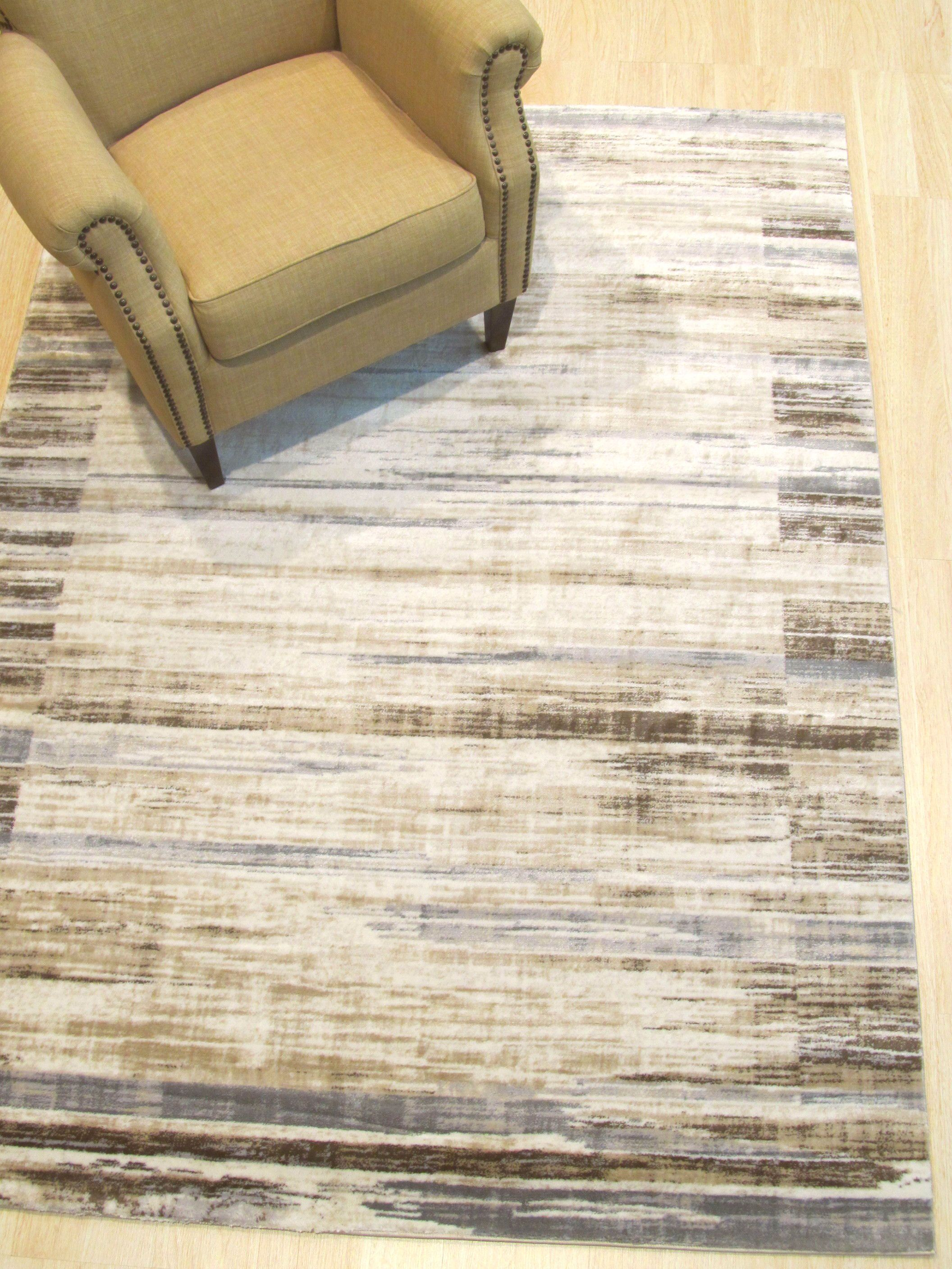 Gulley Distressed Beige/Gray Area Rug Rug Size: Rectangle 4'3