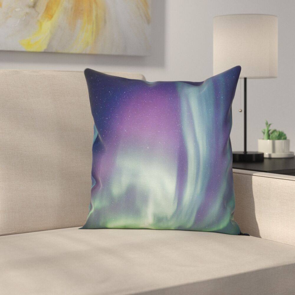 Northern Light Solar Starry Sky Cushion Pillow Cover Size: 20