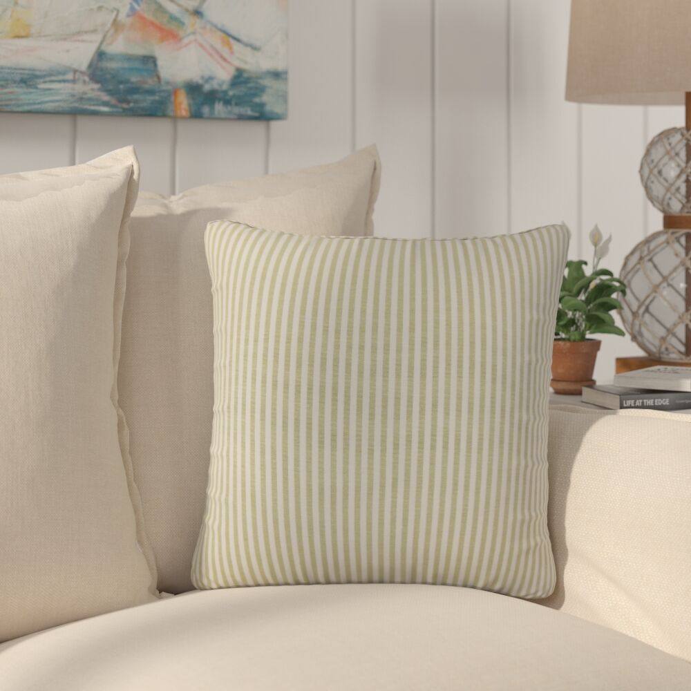 Montego Stripes Cotton Throw Pillow Color: Honey