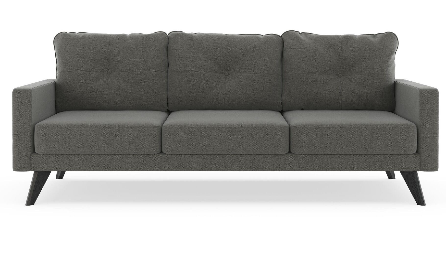 Coyer Oxford Weave Sofa Upholstery: Aegean Blue, Finish: Black