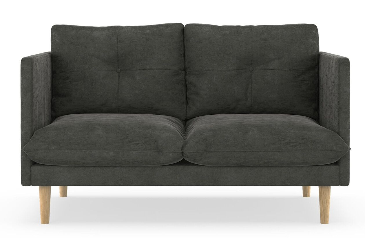 Cowles Micro Suede Loveseat Upholstery: Hazelnut, Finish: Natural