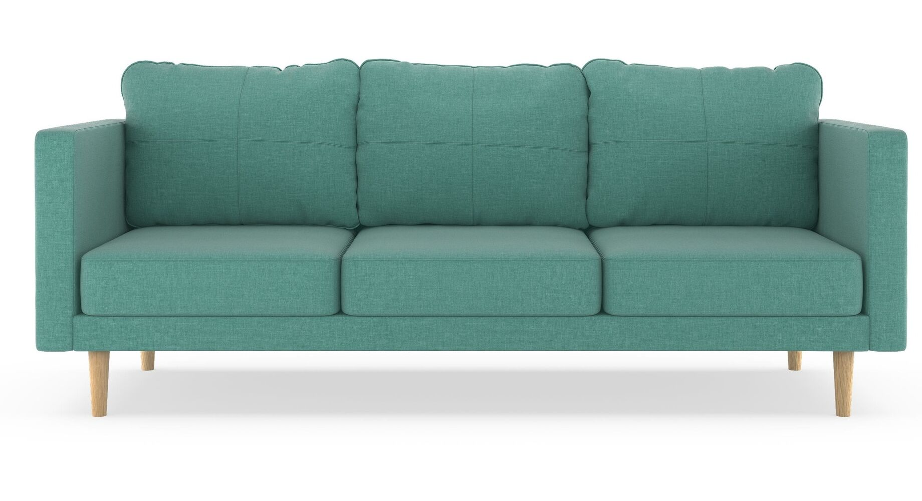 Rocio Linen Weave Sofa Finish: Black, Upholstery: Peppercorn