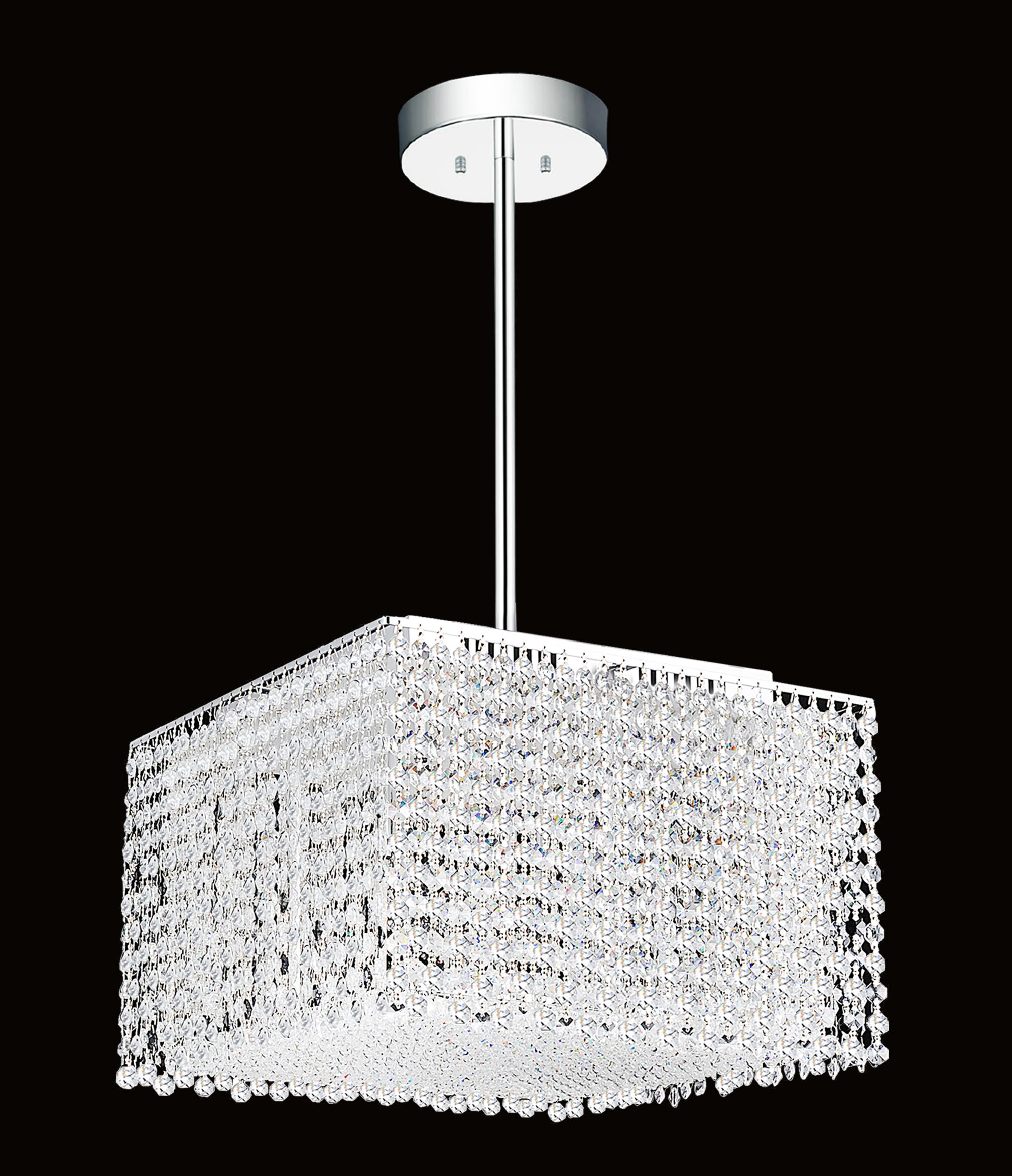 Glitz 6-Light Square/Rectangle Chandelier