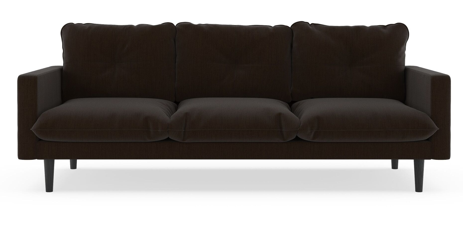 Scheidt Satin Weave Sofa Finish: Black, Upholstery: Slate Gray