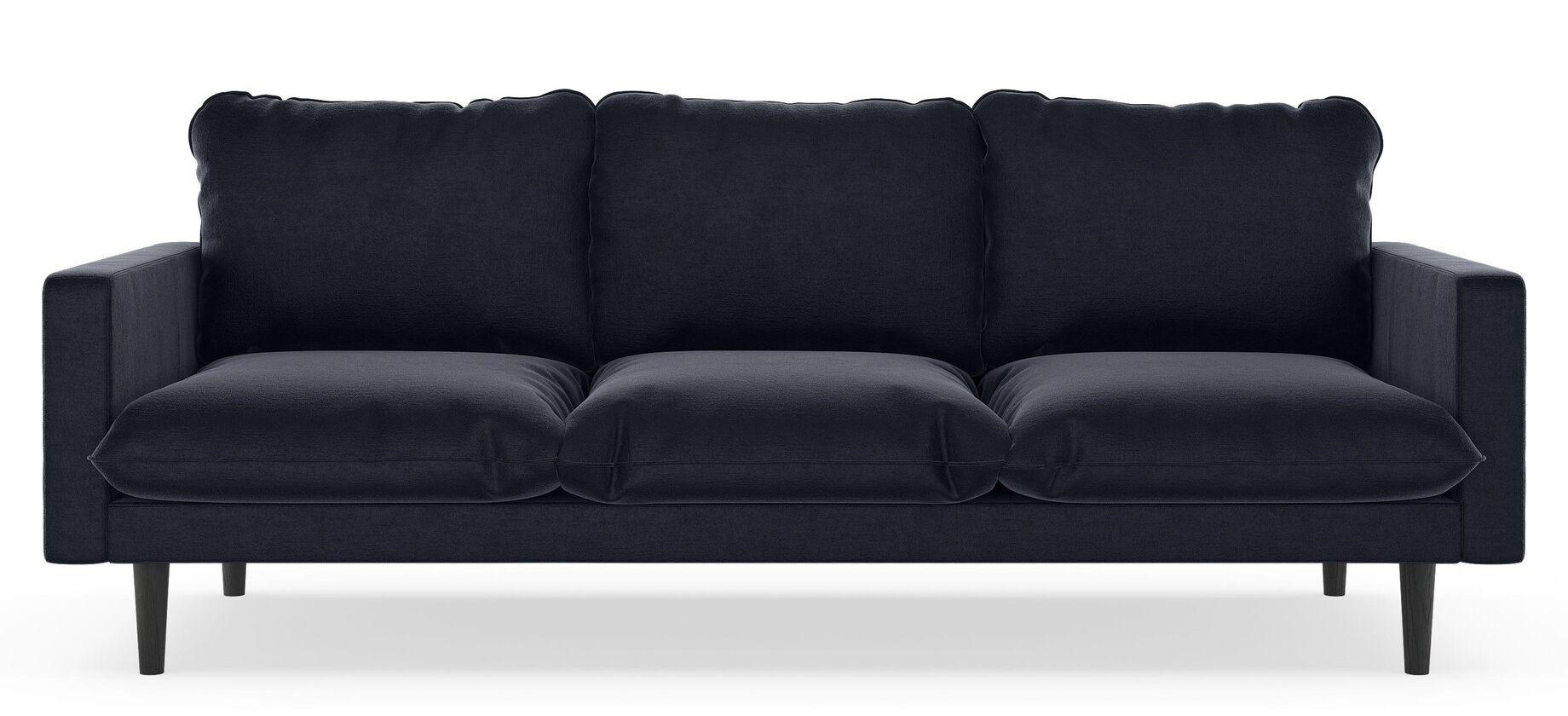 Robles Mod Velvet Sofa Upholstery: Steel Blue, Finish: Walnut