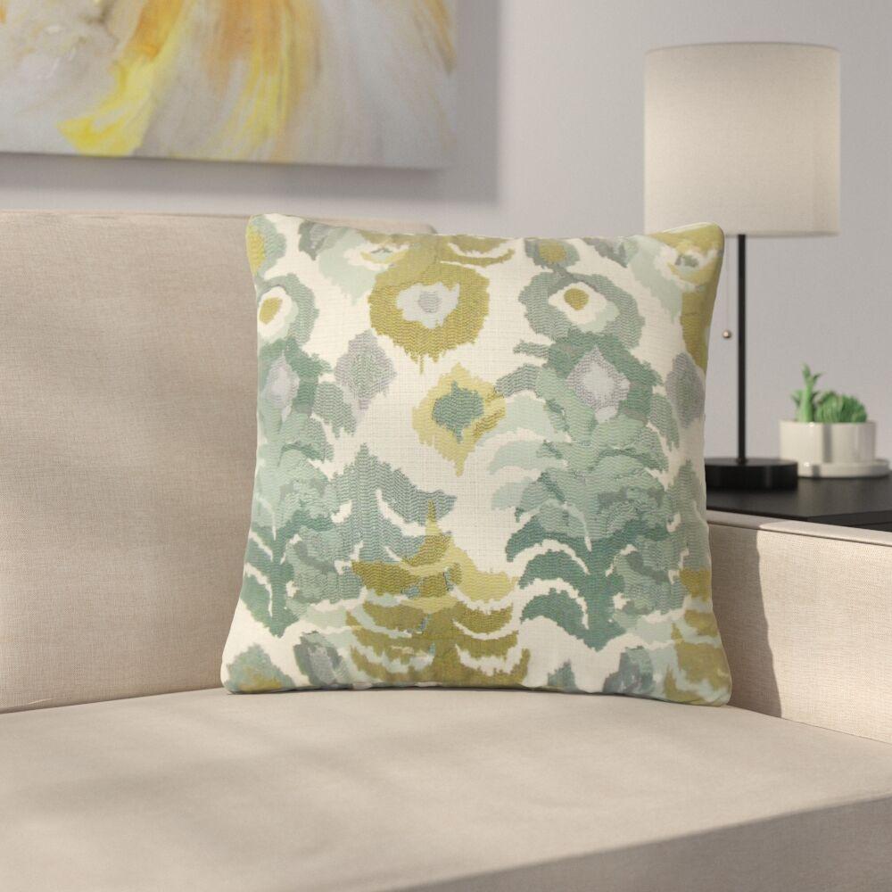 Finklea Summerlin Ikat Throw Pillow Color: Blue