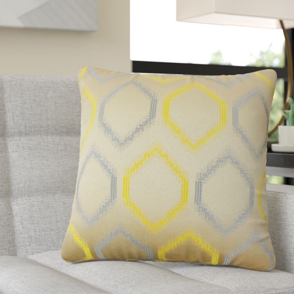 Pilkington Geometric Throw Pillow Color: Hemlock