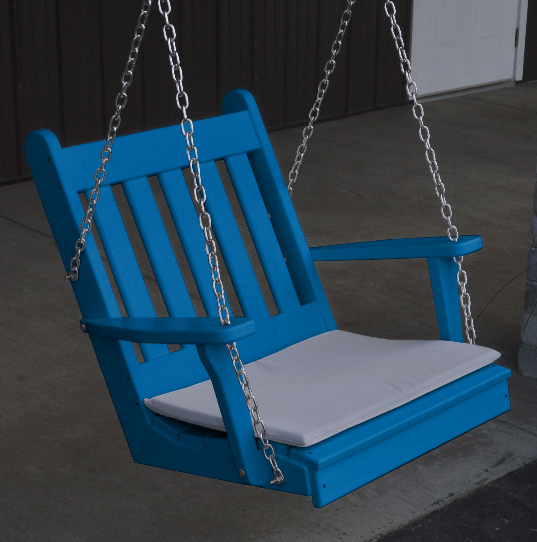 Lemming Traditional English Porch Swing Color: Blue