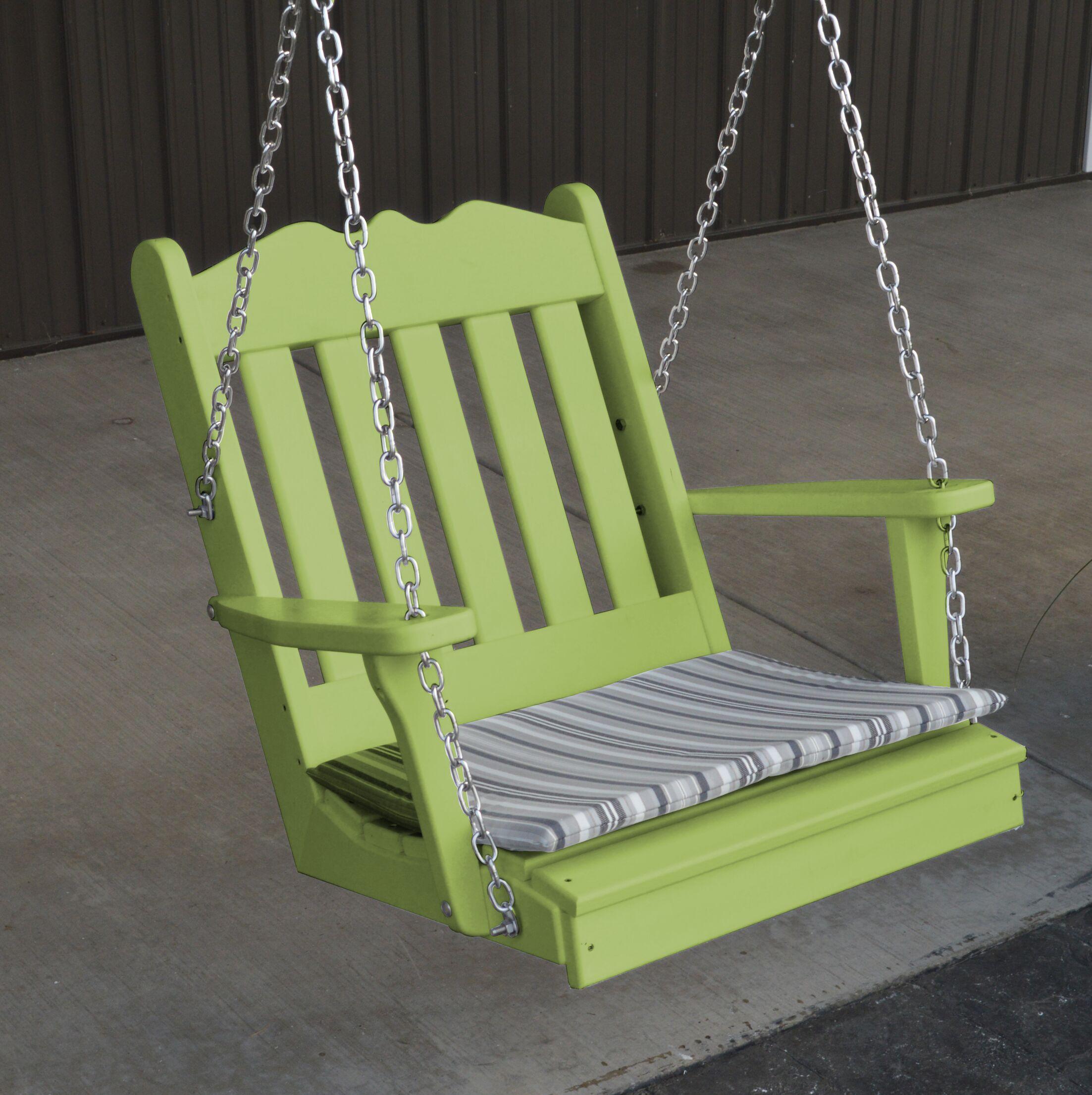 Pi Royal English Porch Swing Color: Lime