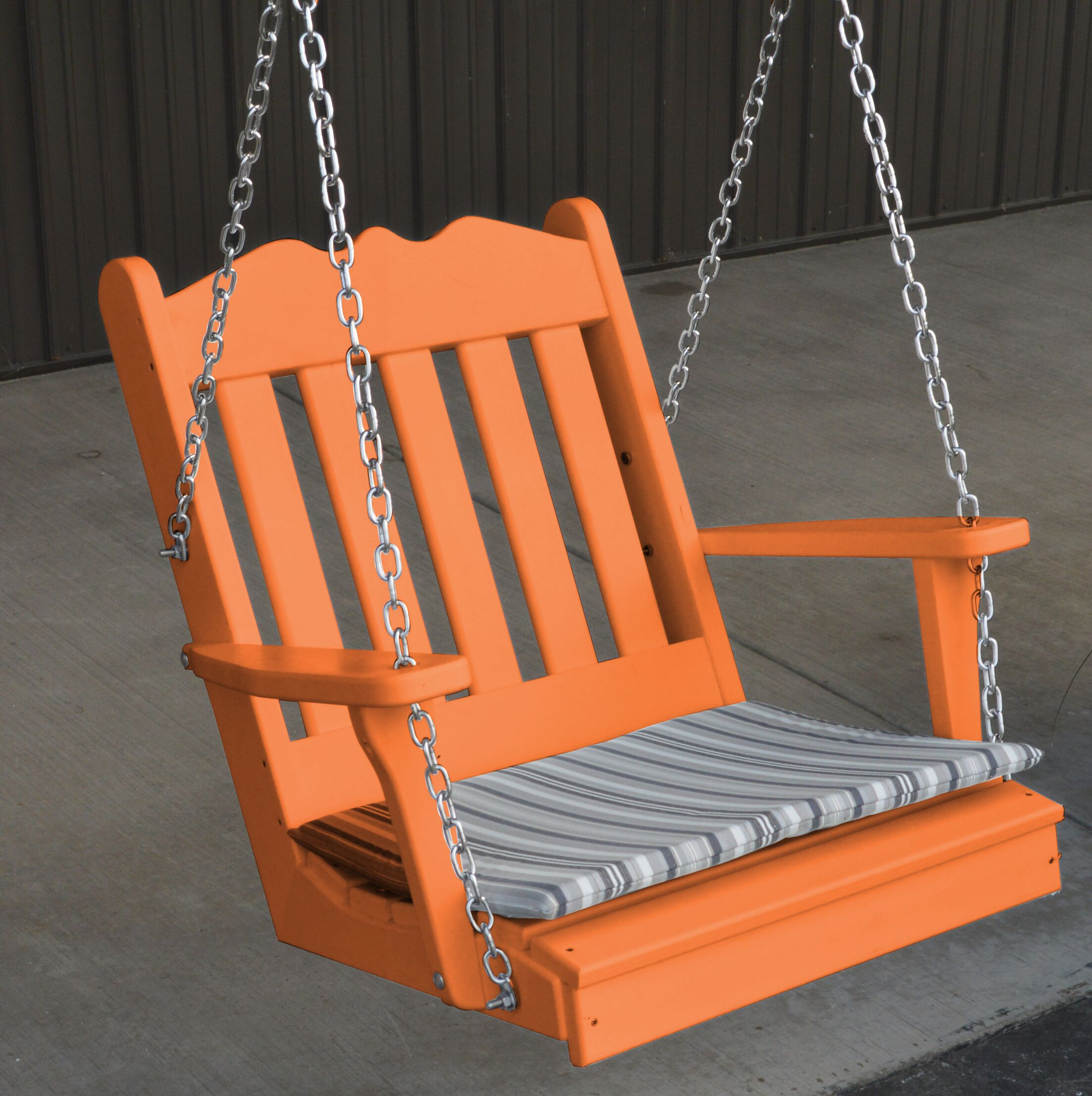 Pi Royal English Porch Swing Color: Orange