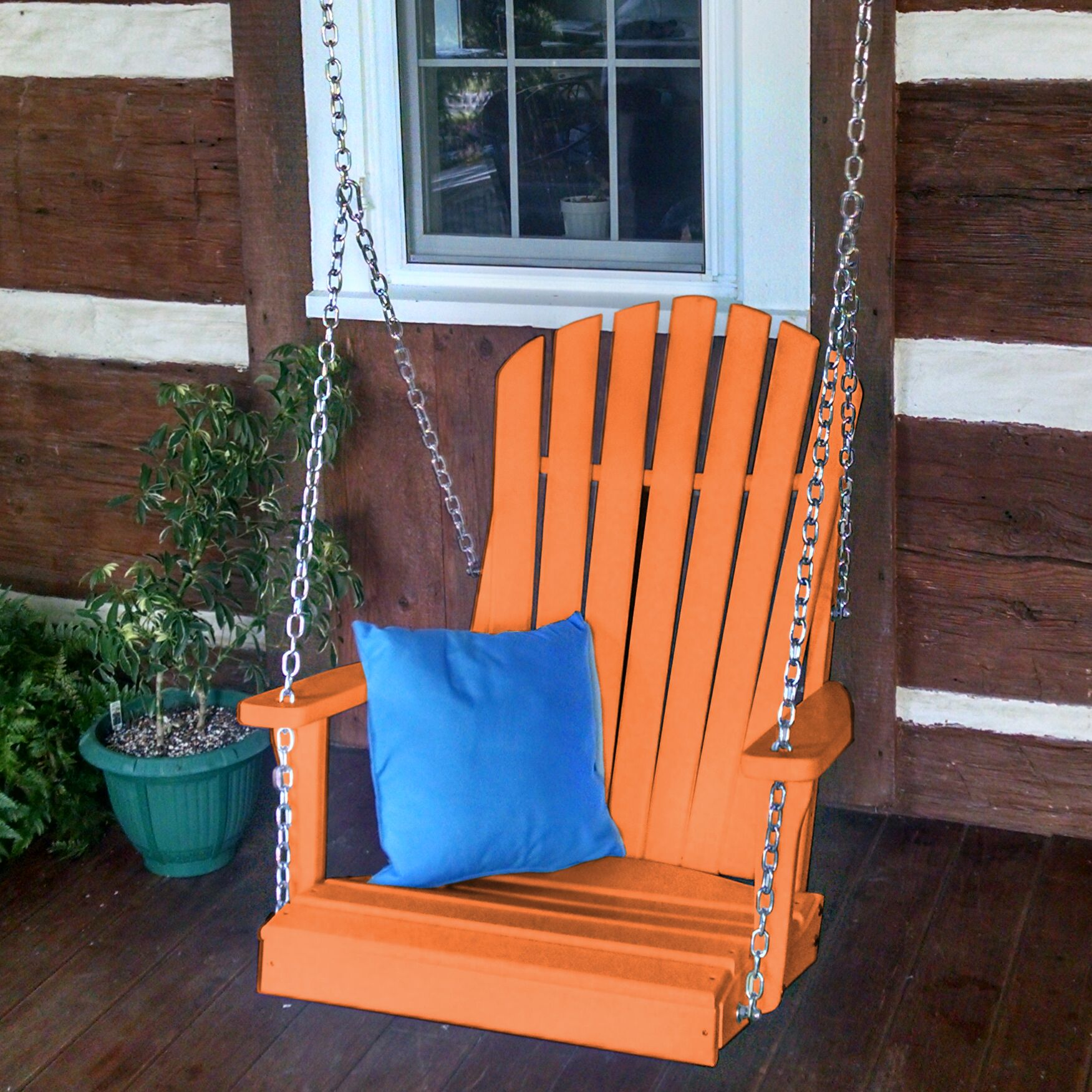Ratto Adirondack Porch Swing Color: Orange