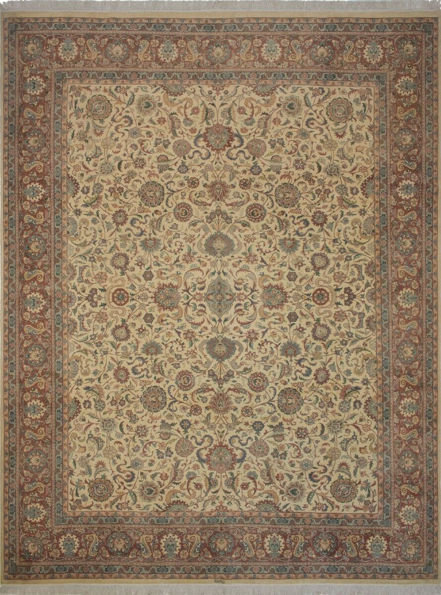 Canning Persian Hand-Knotted Wool Red/Beige Area Rug