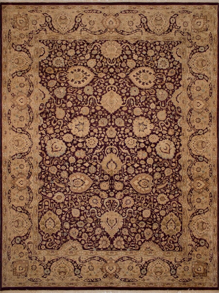 Maly Vegetable-Dyed Hand-Knotted Wool Brown/Purple Area Rug