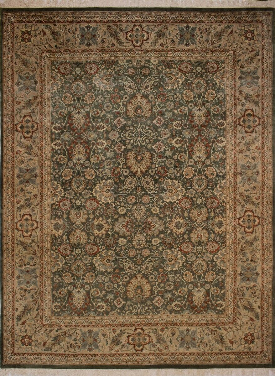Canning Persian Hand-Knotted Wool Brown/Green Area Rug