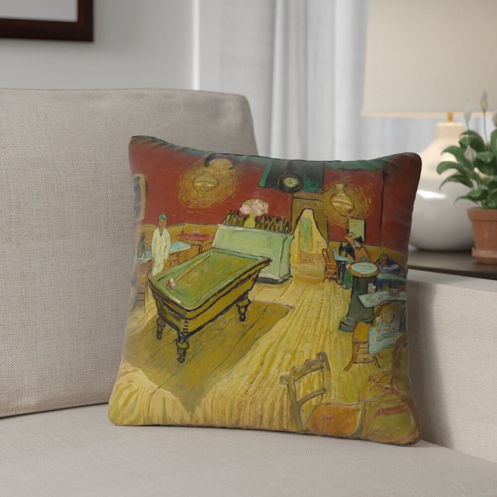 Burdick The Night Cafe Outdoor Throw Pillow Size: 18