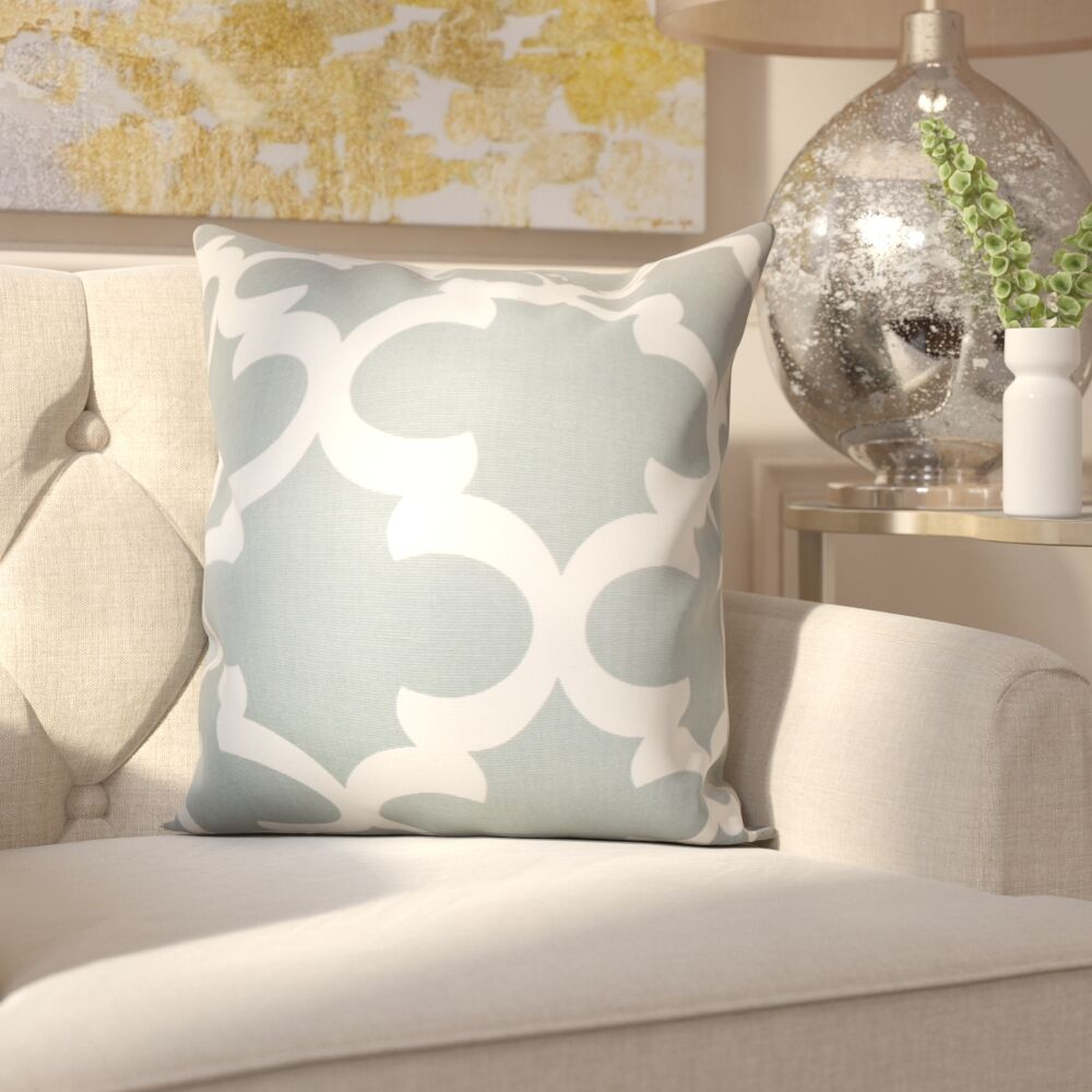Clyburn 100% Cotton Throw Pillow Color: Gray, Size: 20