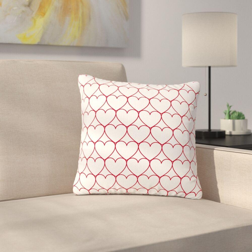 Anneline Sophia Soulmates Love Outdoor Throw Pillow Size: 18