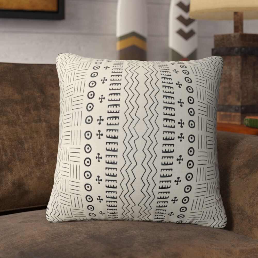Couturier Geometric Throw Pillow Color: Ivory, Size: 16