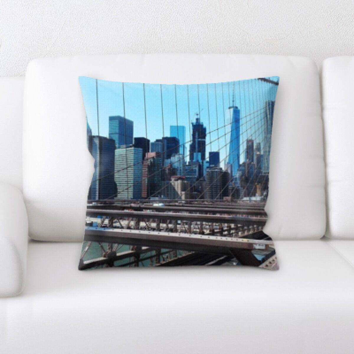 Gorton City of New York Throw Pillow