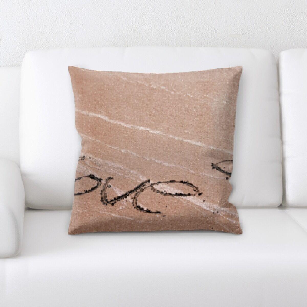 Botelho Love in Sand Throw Pillow
