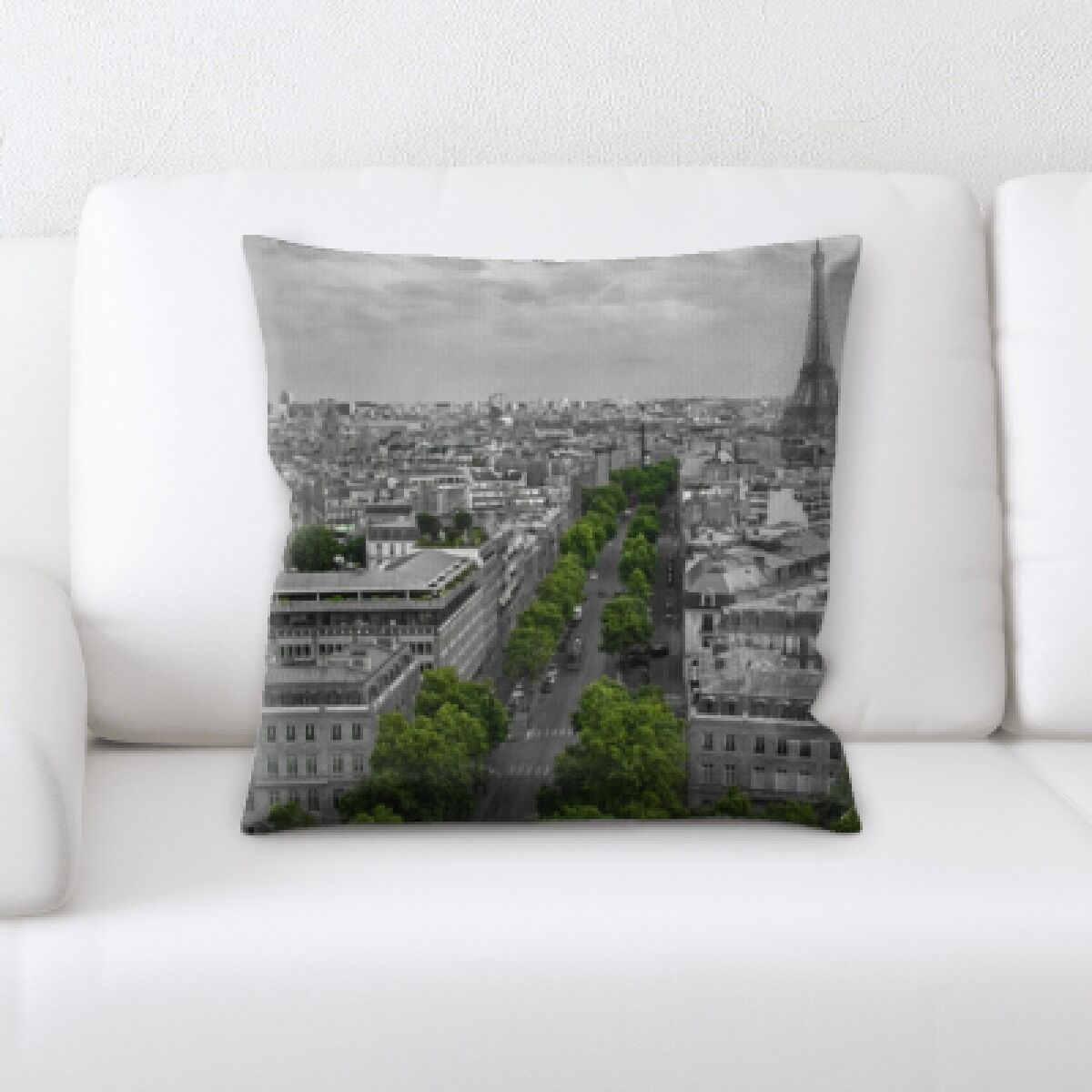 Brownlee City of Paris Throw Pillow