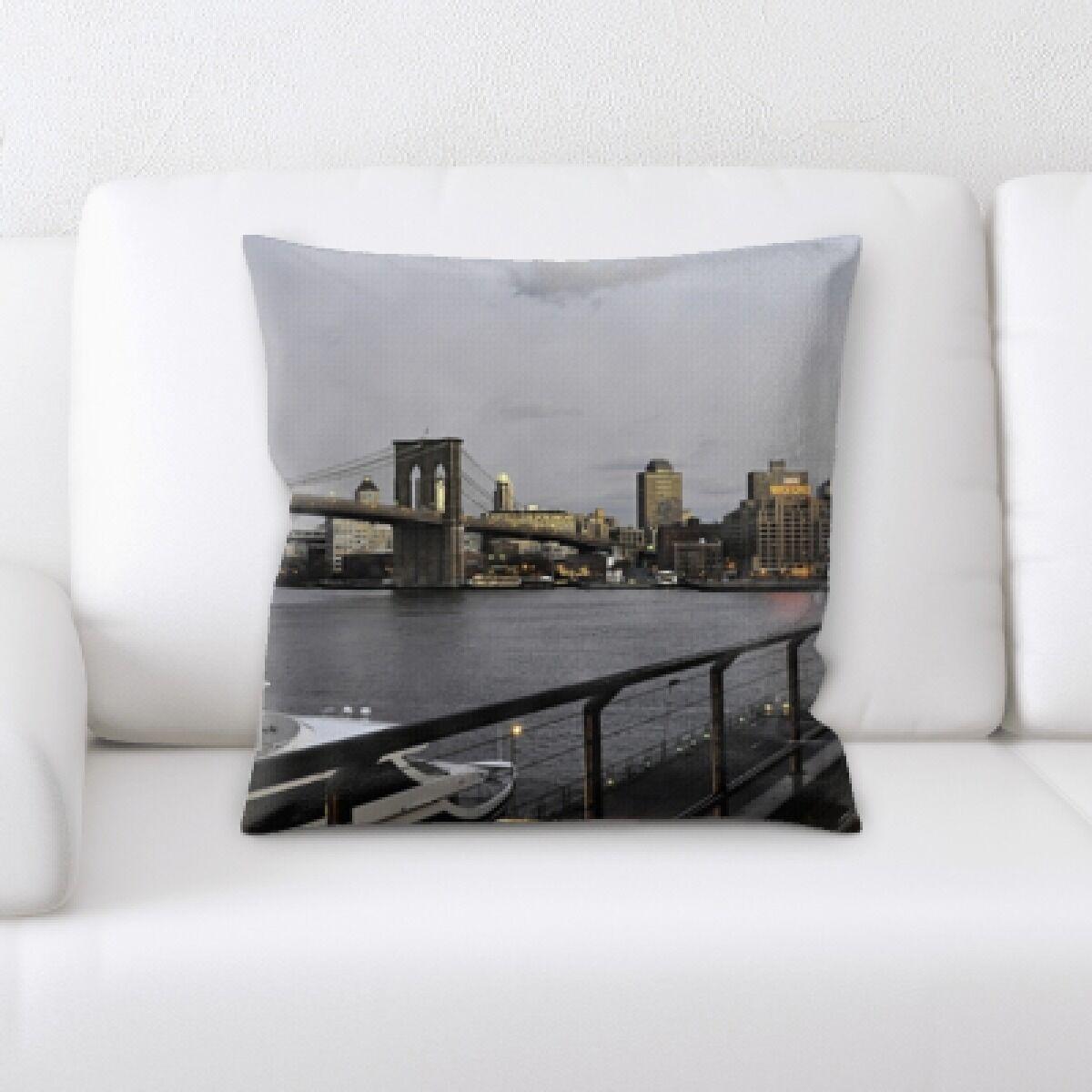 Boulton City of New York Throw Pillow
