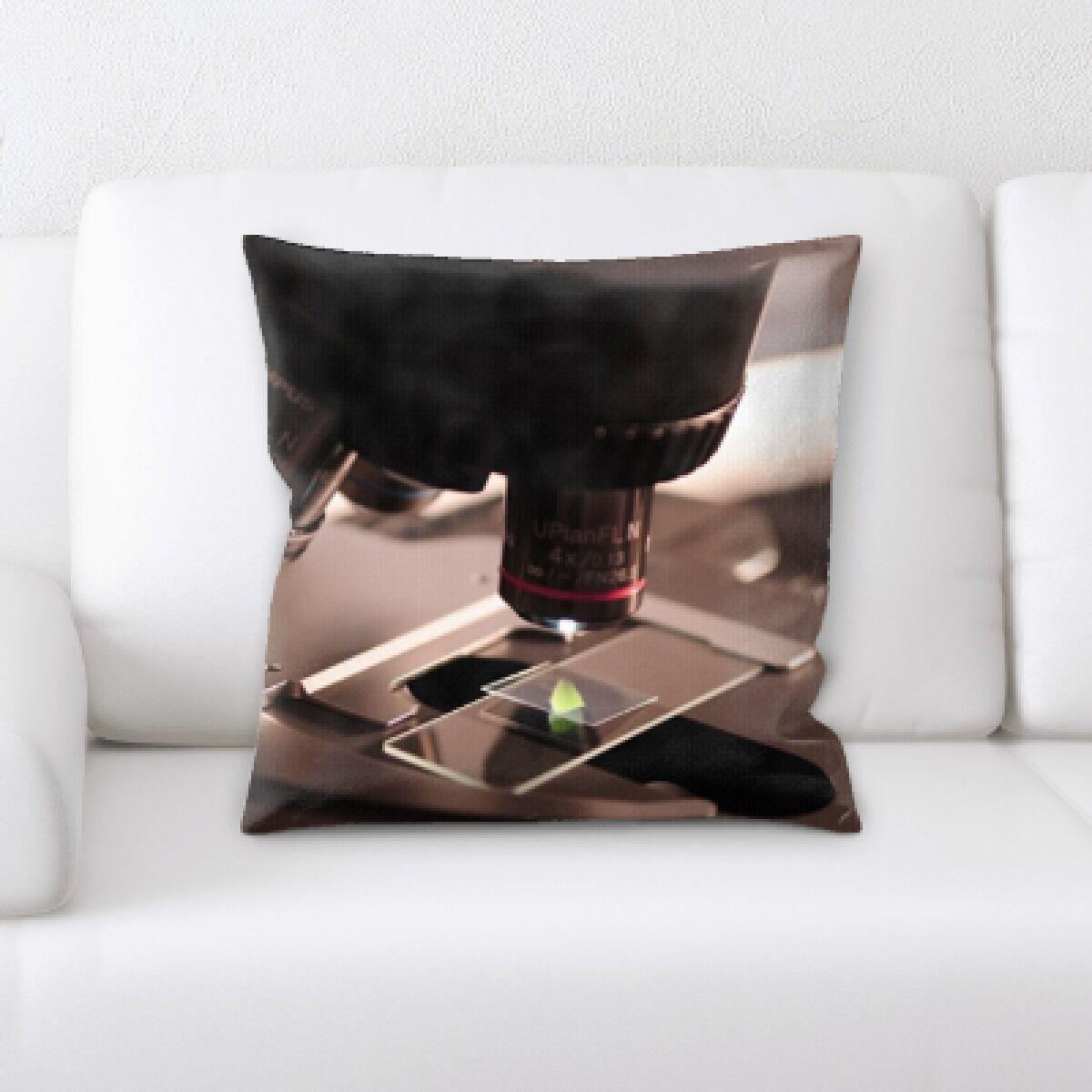 Brunner Microscope Throw Pillow