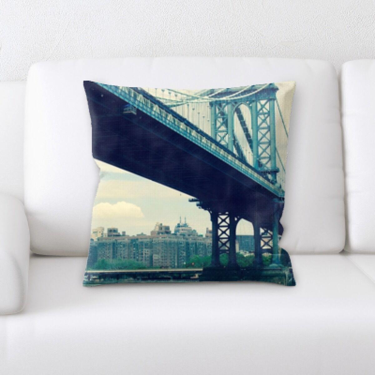 Bourke City of New York Throw Pillow