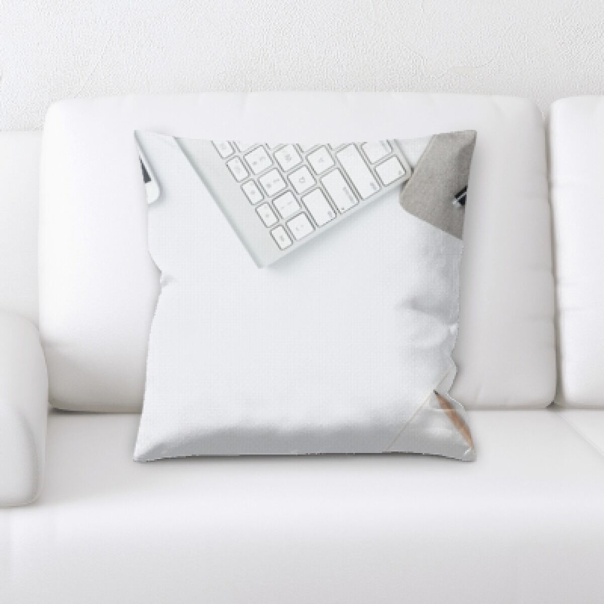 Burks Keyboard and Notebook Throw Pillow