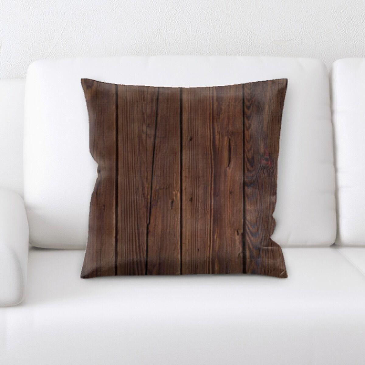 Maldanado Wooden Textures Throw Pillow