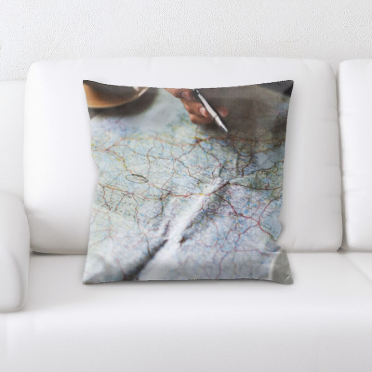 Pesce Planning to Travel Throw Pillow