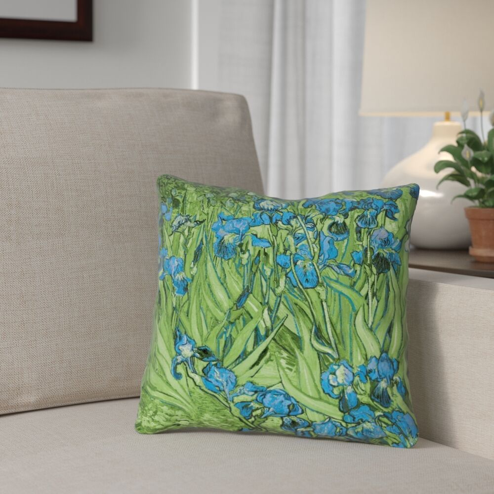 Morley Irises Square Pillow Cover Size: 26