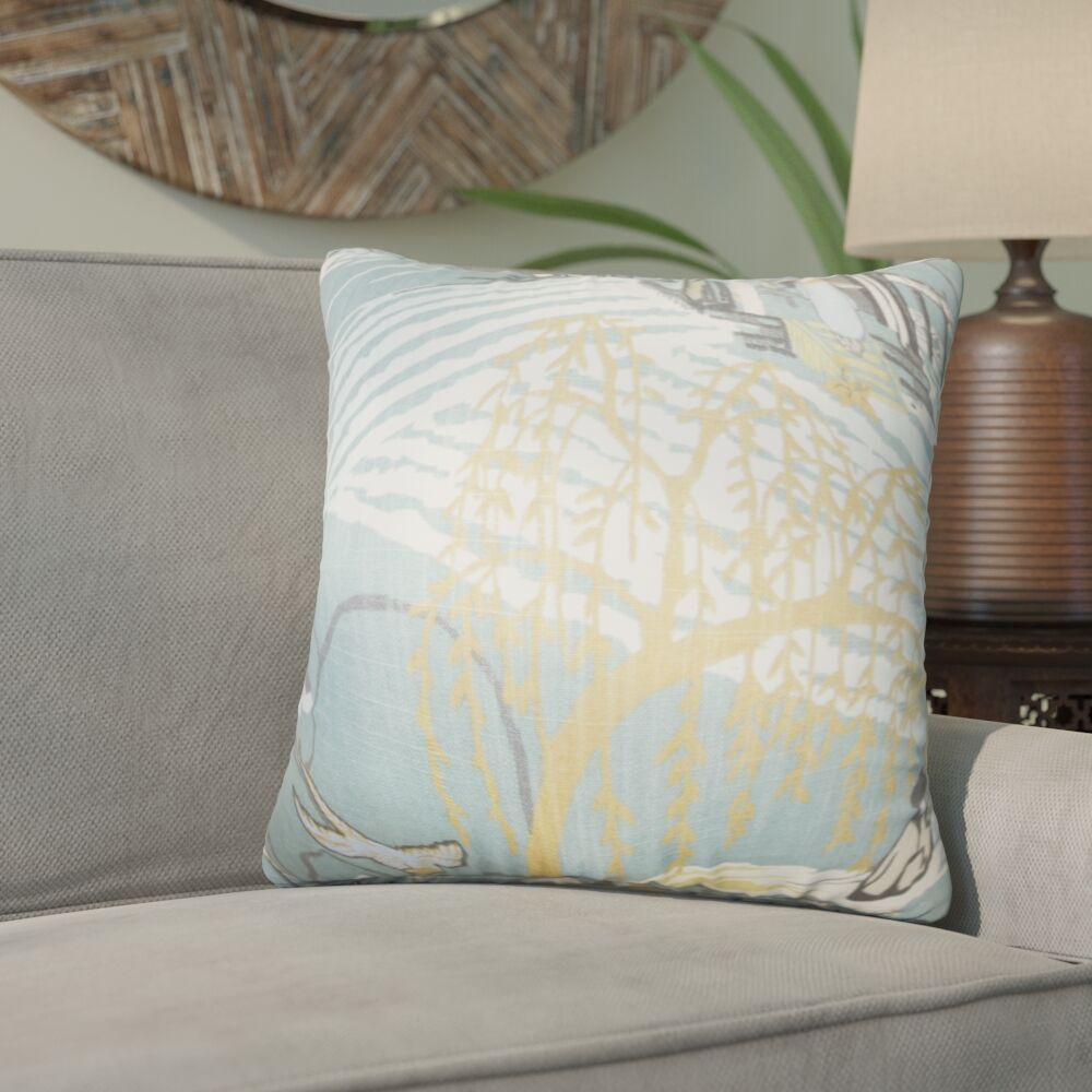 Whitlam Cotton Throw Pillow Color: Cove